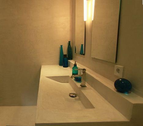 lavabo beton ciré