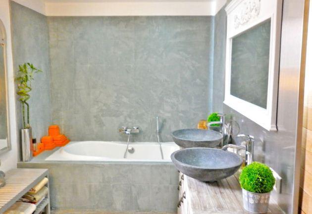 salle bain béton ciré